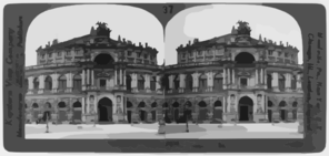 Royal Operahouse, One Of The Finest Buildings In Dresden--s. Entrance Facing Square--germany Clip Art
