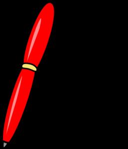 Red Pen Clip Art At Clker Com Vector Clip Art Online Royalty Free Amp Public Domain