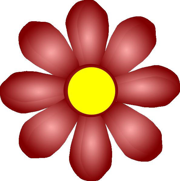 Black Flower Clip Art At Clker Com: Violet Flower Clip Art At Clker.com