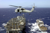 Sh-60 Sea Hawk Supporting Underway Replenishment. Image