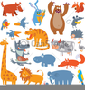 Cute Baby Farm Animals Clipart Image