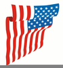 Waving Us Flag Clipart Image