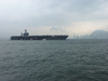 The Aircraft Carrier Uss Carl Vinson  (cvn 70) Anchors In Hong Kong Island S Harbor For A Scheduled Liberty Call Image