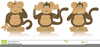 Wise Monkeys Clipart Image