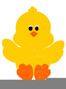 Easter Chicks With Eggs Clipart Image