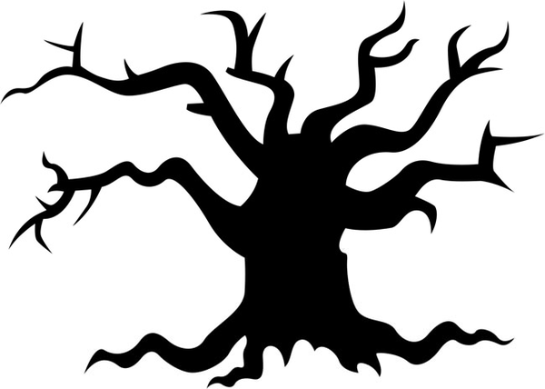 spooky tree clipart free images at clker com vector clip art rh clker com Scary Tree Silhouette Halloween Tree Clip Art
