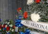 Ceremonial Wreaths Are Arranged In The Shrine Room Of The Uss Arizona Memorial Image