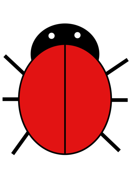 red ladybug without spots