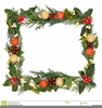 Christmas Ivy Border Clipart Image