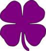 Purple Shamrock Clip Art