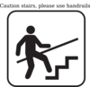Please Hold Handrails Clip Art