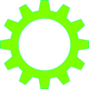 Lime Green Cogwheel Clip Art