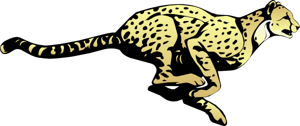 Running Cheetah Clip Art at Clker.com - vector clip art ...