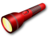 Red Flashlight Clip Art