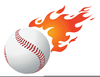 Flaming Softball Clipart Free Image