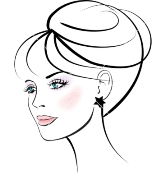 Free Line Drawing Woman Face : Woman face free images at clker vector clip art