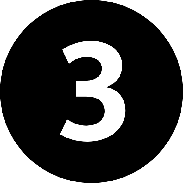 Black Flower 3 Clip Art At Clker Com: Number 3 In Circle Clip Art At Clker.com
