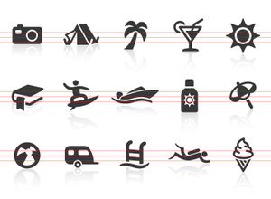 0024 Beach And Vacation Icons Image