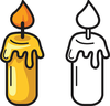 Candle Flame Clipart Free Image
