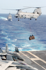 A Ch-46d Conducts A Vertical Replenishment Image