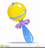 Blue Baby Rattle Clipart Image