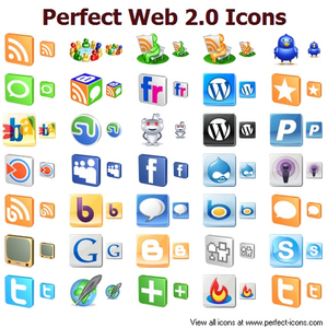 Perfect Web 2.0 Icons | Free Images at Clker.com - vector ...