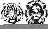 Free Black And White Lion Clipart Image