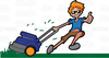 Clipart Of Man Cutting Grass Image