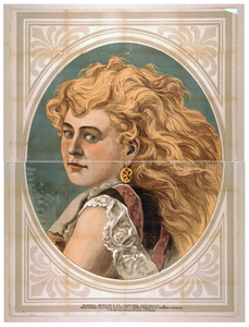 [bust View Of Woman With Long, Blond, Free-flowing Hair, Wearing Lace] Image