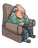Old Man Cartoon Clipart Image