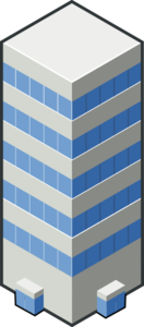 Isocity Blue Tower Clip Art