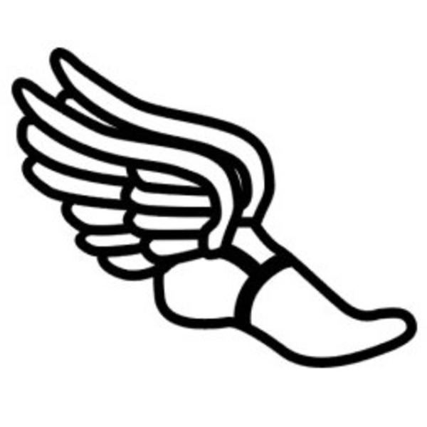 track shoe silhouette wingedfoot free images at clker com vector clip art 984