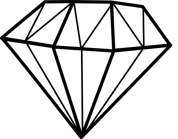 Line Art Diamond : Diamant diamond clip art at clker vector