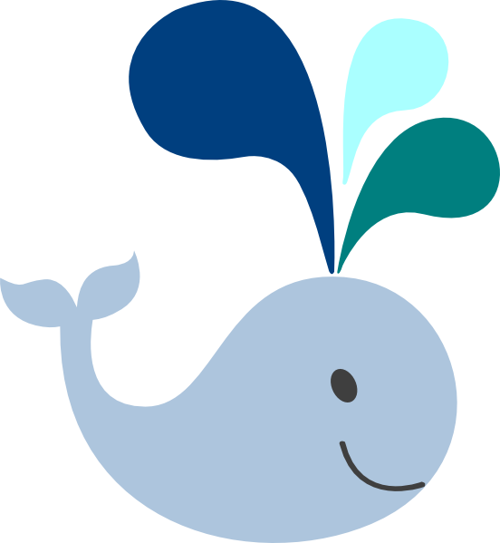 little light blue whale clip art at clker com vector whale clip art for kids whale clip art black and white