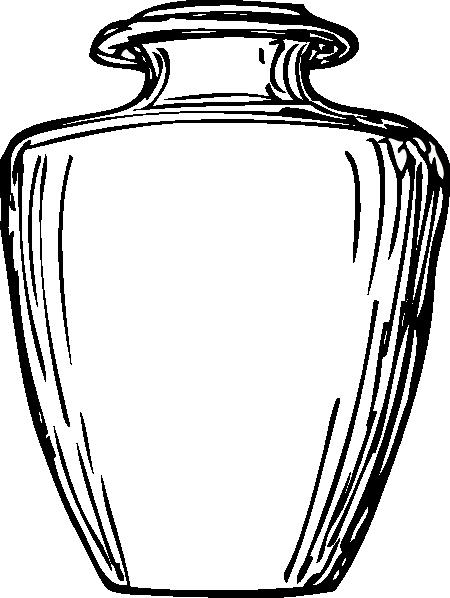 Black & White Greek Jar Clip Art at Clker.com - vector ...