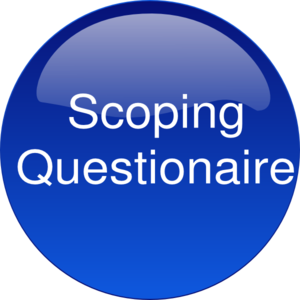 Blue Scoping Clip Art