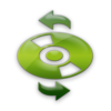 Green Jelly Icon Media Cd Refresh Image