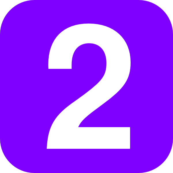 Clipart Purple Number Two