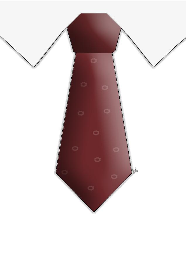 Tie Cutout Free Images At Clker Com Vector Clip Art
