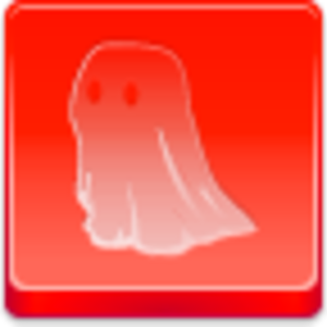 Free Red Button Icons Ghost Image