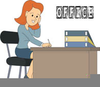Clipart Of Man Sitting At Desk Image