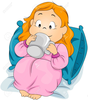 Child In Bed Free Clipart Image