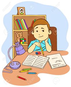 Kid Doing Homework Clipart | Free Images at Clker.com ...