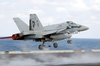 F/a-18 Hornet Launches From Uss Kitty Hawk. Image