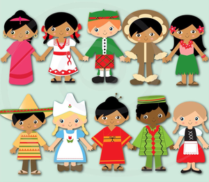Clipart Of Children Around The World Image