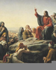 Jesus Appearing To Apostles After Death Clipart Image