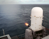 Phalanx Mk-15 Close In Weapons Systems (ciws) Fires A High-speed Computer Controlled, Radar Guided, 20 Mm Gatling Gun Image