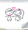 Free Cartoon Bride And Groom Clipart Image
