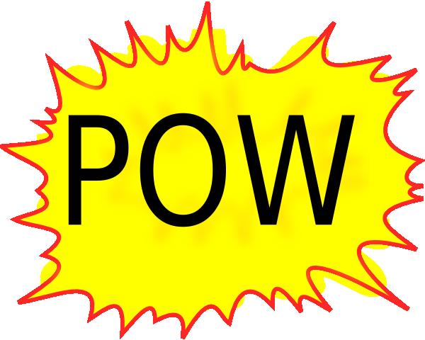 Pow Balloon Clip Art At Clker Com Vector Clip Art Online