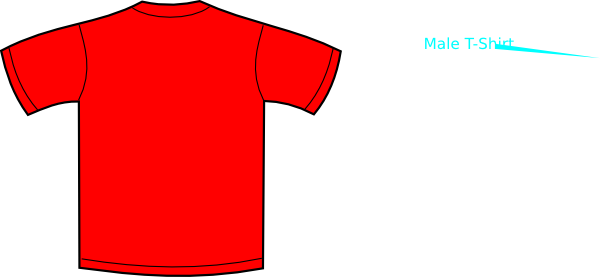 red t-shirt clip art at clker com